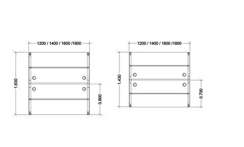 Dimensions Of Buro Express Desks