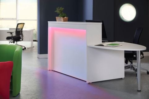 MG Reception Desk With Lighting And Extension