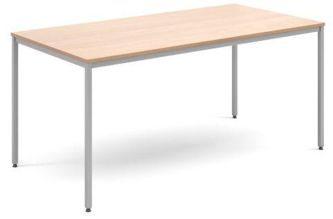 Flexi Rectangular Table Beech And Silver