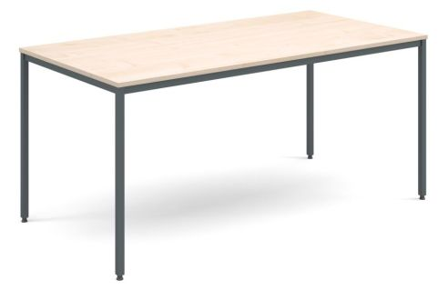 Flexi Rectangular Table Maple And Graphite