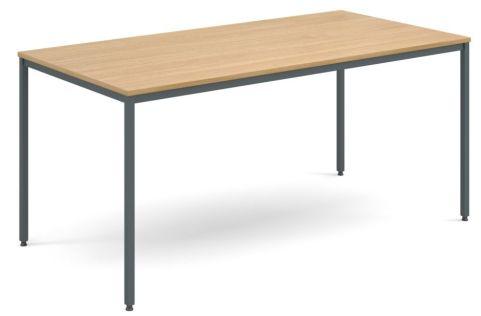 Flexi Rectangular Table Oak And Graphite