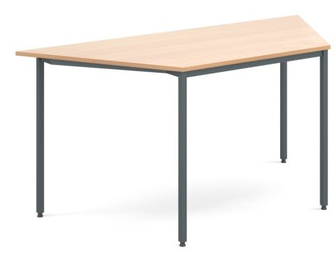 Flexi Trapezoidal Table Beech And Graphite