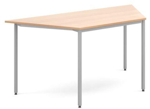 Flexi Trapezoidal Table Beech And Silver