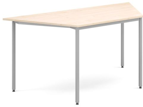 Flexi Trapezoidal Table Maple And Silver