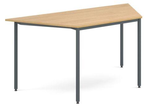Flexi Trapezoidal Table Oak And Graphite