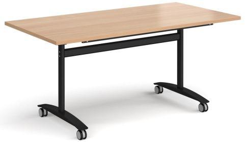GM Deluxe Flip Top Table Beech And Black
