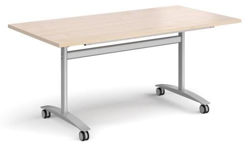 GM Deluxe Flip Top Table Maple And Silver