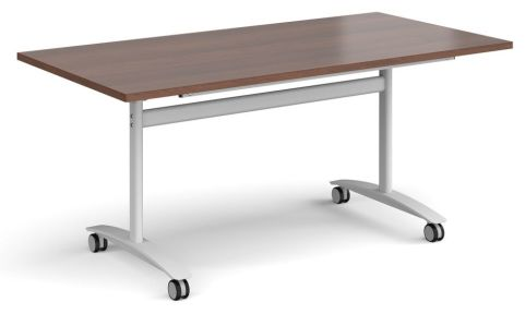 GM Deluxe Flip Top Table Walnut And White
