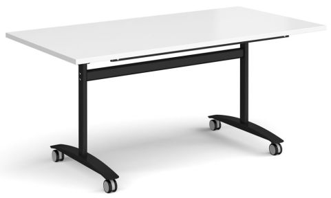 GM Deluxe Flip Top Table White And Black
