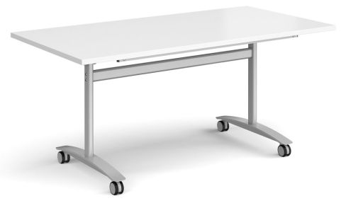 GM Deluxe Flip Top Table White And Silver