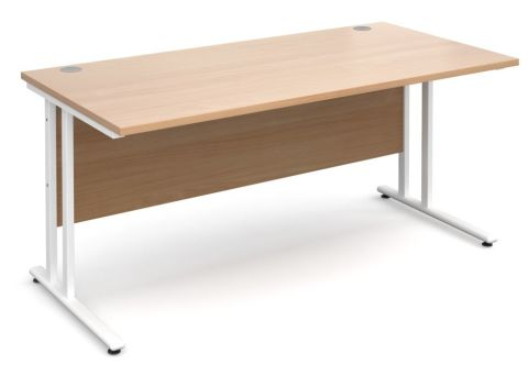 GM 600mm Desk Beech And White