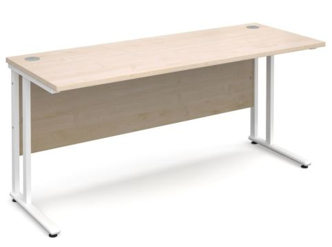 GM 600mm Desk Maple And White