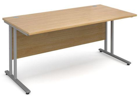 GM 600mm Desk Oak And Silver