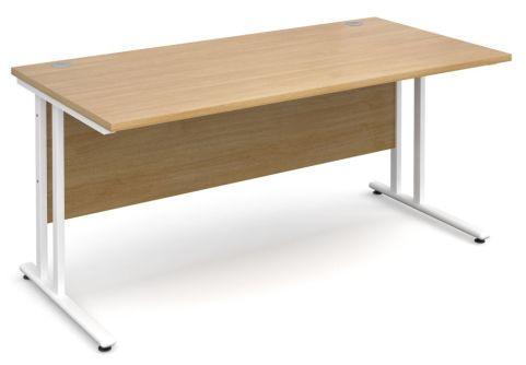 GM 600mm Desk Oak And White