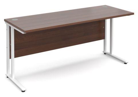 GM 600mm Desk Walnut And White