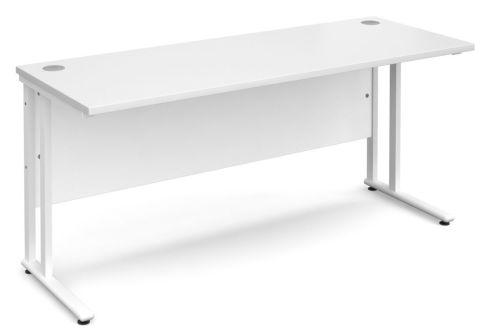 GM 600mm Desk White And White