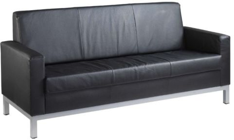 Monal 3 Seater Leather Sofa