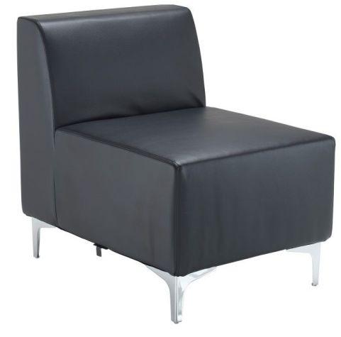Tripal Black Leather Modular Seating Chair