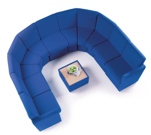 Breto Modular Reception Chair Mood View