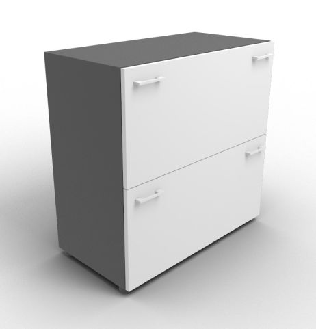 Quad Anthracite And Grey File Cabinet Without Lock