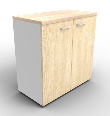 Quad Aluminium And Oak Cabinet With Finishing Top