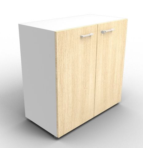 Quad Aluminium And Oak Cabinet