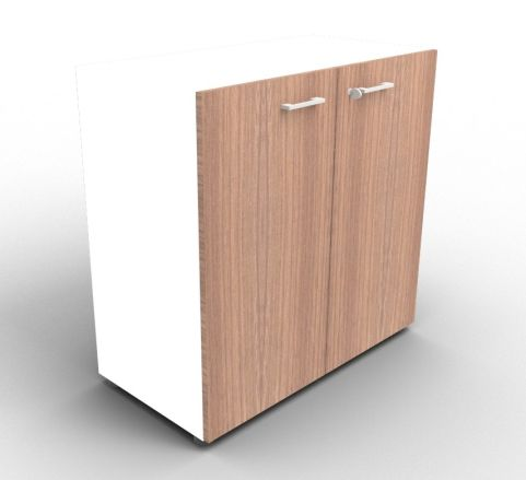 Quad White And Walnut Cabinet