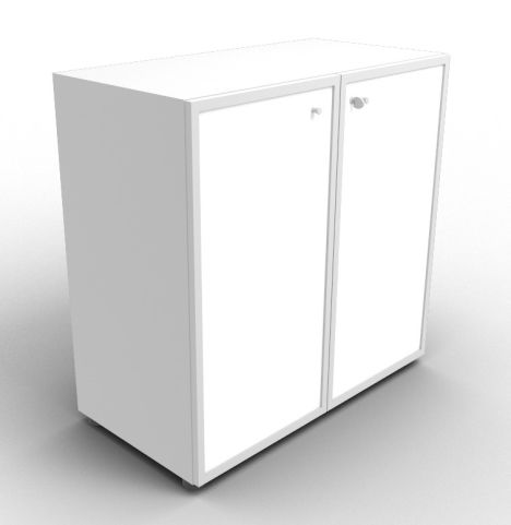 Quad Aluminium Glass Cabinet With Frosted Glass Doors
