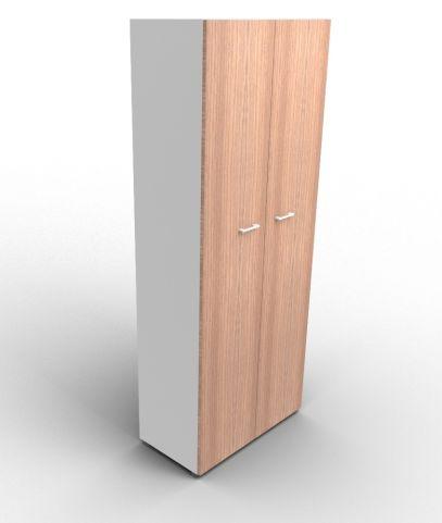 Quad 2140mm Wardrobe Aluminium And Walnut