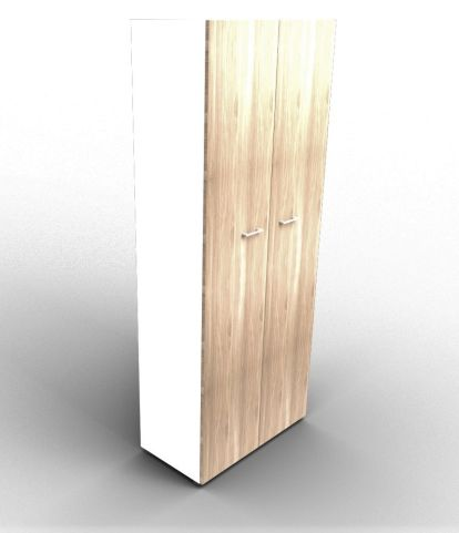 Quad 2140mm Wardrobe White And Elm