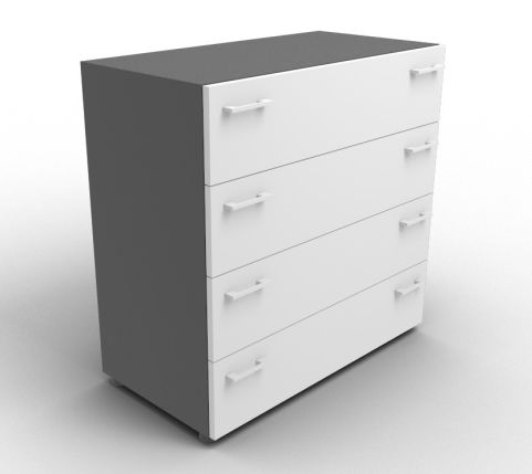Quad Anthracite And Grey Drawer Cabinet Without Lock