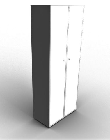 Quad 2140mm Anthracite Glass Cabinet With Frosted Glass Doors