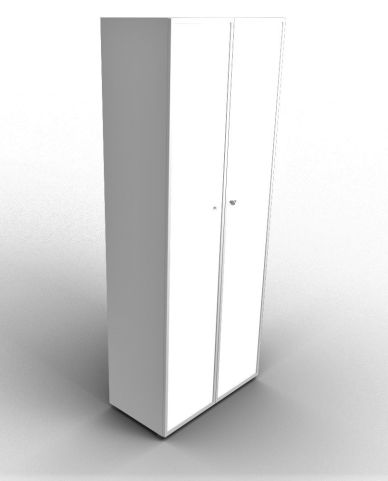 Quad 2140mm Aluminium Glass Cabinet With Frosted Glass Doors
