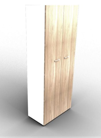 Quad 2140mm Bookcase With High Doors White And Elm