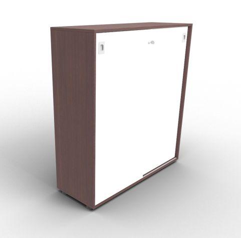 Quad 1310mm Wenge And White Sliding Door Cabinet