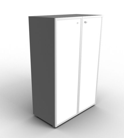 Quad 1310mm Anthracite Glass Cabinet With Frosted Glass Doors