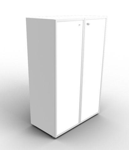 Quad 1310mm Aluminium Glass Cabinet With Frosted Glass Doors