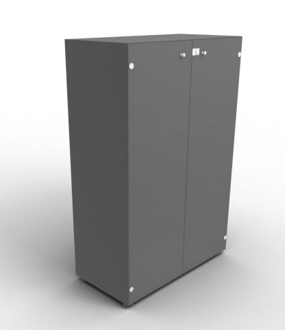 Quad 1310mm Anthracite Glass Cabinet With Smoke Glass Doors