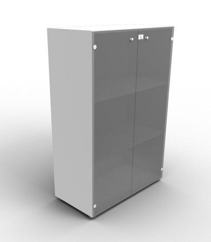 Quad 1310mm Aluminium Glass Cabinet With Smoke Glass Doors