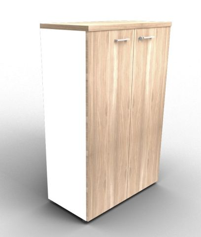 Quad 1310mm White And Elm Cabinet With Finishing Top
