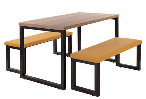 Kile 20 Bench Set Raw Wood Cush
