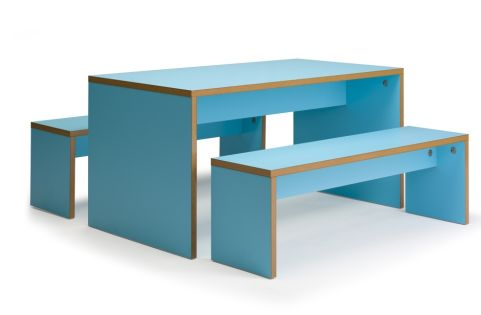 Glase Bench Set Blue