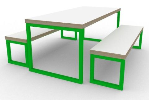 Trizle Bench Dining Set Green