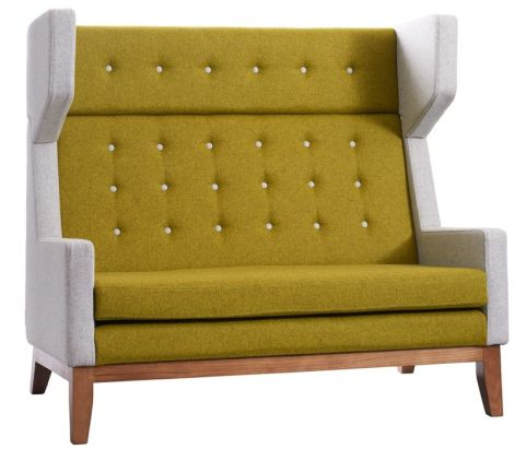 Ray Two Seater Sofa With High Back Angled View