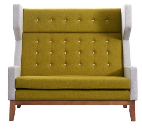 Ray Two Seater Sofa With High Back Front View