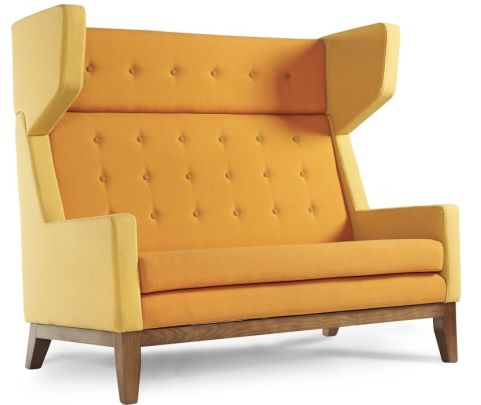 Ray Two Seater Sofa With High Back