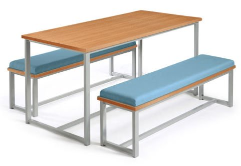 Autom Bench Dining Set Beech And Blue