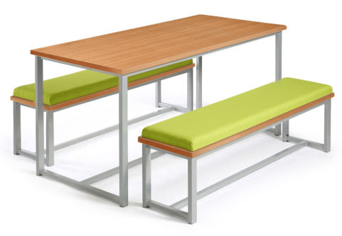 Autom Bench Dining Set Beech And Green