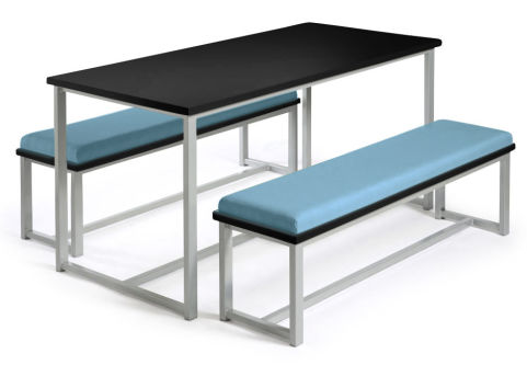 Autom Bench Dining Set Black And Blue