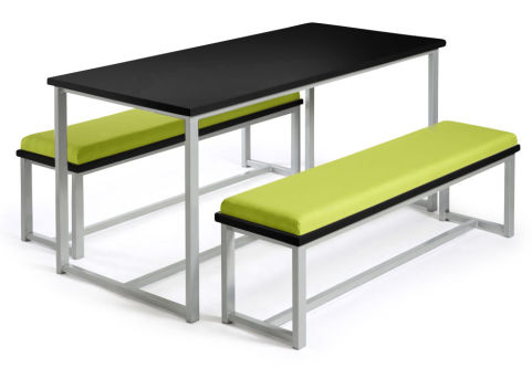 Autom Bench Dining Set Black And Green